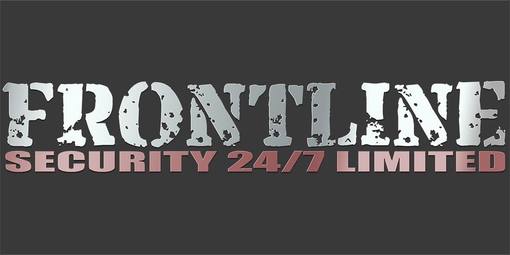 Frontline logo on grey background